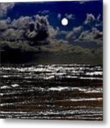 Moon Over The Pacific Metal Print