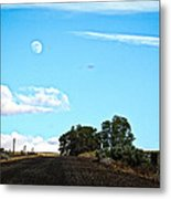 Moon Road Metal Print