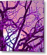 Moon Tree Pink Metal Print by First Star Art