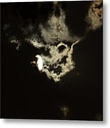 Moonglow Reveals Face In The Cloud Metal Print