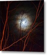Moonlight By The Camp Fire Metal Print