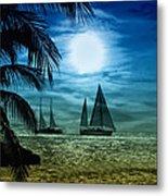 Moonlight Sail - Key West Metal Print