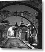 Moonlight View Of Market Street, Odos Metal Print