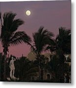 Moonlit Resort Metal Print