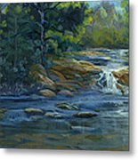 Moonrise On The River Metal Print