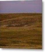 Moonrise Over Badlands South Dakota Metal Print