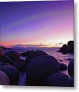 Moonrise Over Tahoe Metal Print