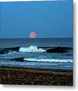 Moonrise Rexham Beach Metal Print by Malcolm Lorente