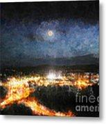 Moonshine Over Prescott Metal Print by Arne Hansen