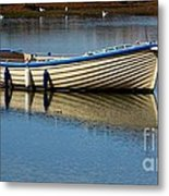 Moored And Ready Metal Print