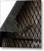 Moorhead Stave Church 12 Metal Print