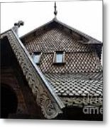 Moorhead Stave Church 13 Metal Print