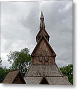 Moorhead Stave Church 2 Metal Print