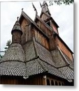 Moorhead Stave Church 8 Metal Print