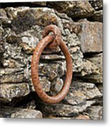 Mooring Ring And Rust Metal Print