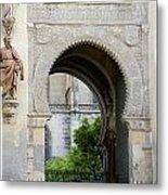 Moorish Arch Of The Giralda In Seville Metal Print