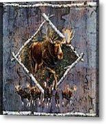 Moose Lodge Metal Print by JQ Licensing
