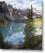 Moraine Lake In The Valley Of The Ten Metal Print