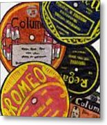 More Old Record Labels  Metal Print