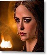 Morgan Pendragon Eva Green Metal Print by Jennifer Hickey