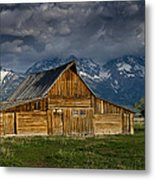 Mormon Barn Under Approaching Storm Metal Print