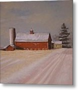 Morning After Heavy Snow Metal Print by Mark Haley