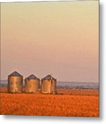 Morning At The Farm Watercolor Photoart Metal Print
