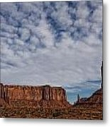 Morning Clouds Over Monument Valley Metal Print