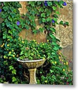 Morning Glory Garden In Provence Metal Print
