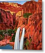 Morning In The Canyon Metal Print