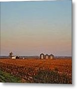 Morning In The Heartland Watercolor Photoart I Metal Print