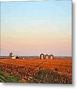 Morning In The Heartland Watercolor Photoart II Metal Print