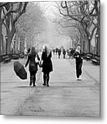 Morning In The Mall Metal Print
