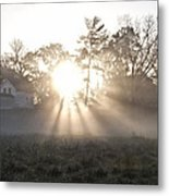 Morning Light At Valley Forge Farm Metal Print