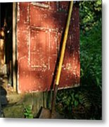 Morning Light On The Door Of An Old Metal Print