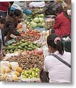 Morning Market In Luang Prabang Metal Print by Roberto Morgenthaler