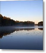Morning Mist At Haukkajarvi Metal Print