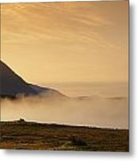Morning Mist, Connemara, Co Galway Metal Print