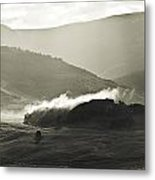 Morning Mist Crested Butte Colorado Metal Print