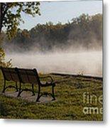 Morning Mist Over The Hudson River Metal Print