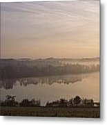 Morning Mist Over Vartry Lake, County Metal Print