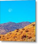 Morning Moon In Baja Metal Print
