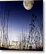 Morning Moonscape Metal Print