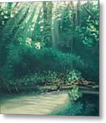 Morning On The Creek Metal Print