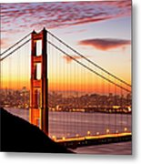 Morning Over San Francisco Metal Print