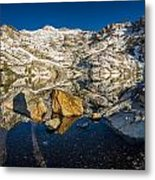 Morning Sun On Angel Lake Metal Print