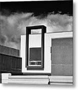 Morrison Window Bw Palm Springs Metal Print