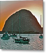 Morro Bay Rock Metal Print