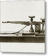 Morse Telegraph Key Metal Print by Miriam And Ira D. Wallach Division Of Art, Prints And Photographsnew York Public Library