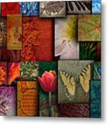 Mosaic Earth Tone Nature Rough Patterns Metal Print